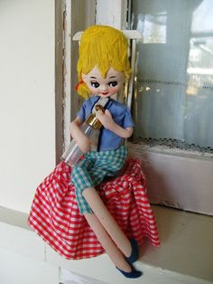 Vintage Pose Doll from Japan, via etsy