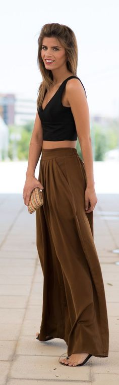 Brown  Palazzo Pants by Ms Treinta