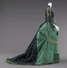 Worth afternoon dress ca. 1875  From the METROPOLITAN MUSEUM OF ART