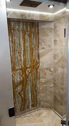 Green Onyx vein cut wall feature
