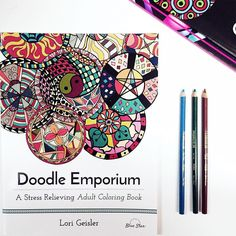 Its Been Raining And Gloomy Here Today So We Are Coloring In Our Doodle Emporium Book With To Brighten Up Day