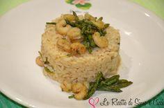 Risotto agli Asparagi Selvatici e Gamberetti Apollo, Ethnic Recipes, Blog, Blogging, Apollo Program