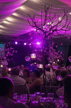 Centro de Mesa para bodas. Bodas al aire libre. Iluminación y efectos especiales. Decoración y Catering para bodas.