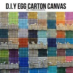 Egg Carton art by Enno De Kroon, featured on ScrapHacker.com in Egg Carton DIY Special