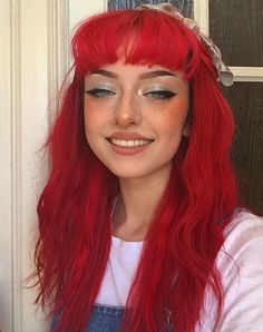 Dyed Red Hair, Dye My Hair, New Hair, Hair Dye Colors, Cool Hair Color, Red Hair Inspo, Bright Red Hair, Coloured Hair, Maquillage Halloween