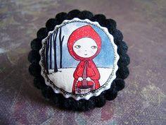 My latest Red Riding Hood from La Factoria de Nono. She is so cute!