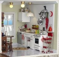 Retro/Modern Kitchen Minitures for dollhouses and crafts