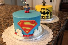 Lego Superhero Cakes : Batman and Superman