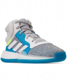 adidas Boys' Marquee Boost Basketball Sneakers from Finish Line - Gray 4 Basketball Shorts Girls, Basketball Games For Kids, Basketball Sneakers, Xavier Basketball, Adidas Originals, Trendy Plus Size, Baby Clothes Shops, Kid Shoes, Casual Outfits