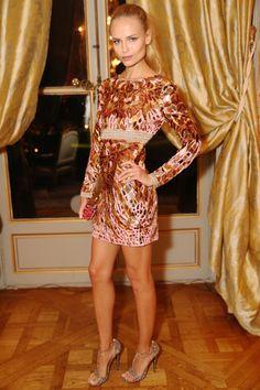 Natasha Poly en robe Emilio Pucci à l'ambassade d'Italie à Paris | Vogue http://www.vogue.fr/mode/look-du-jour/articles/natasha-poly-en-robe-emilio-pucci-lambassade-ditalie-paris/23773