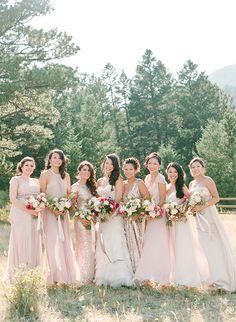 bridesmaids dresses @weddingchicks