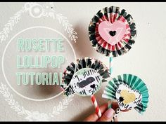Paper Rosette Lollipop Tutorial // Requested - YouTube