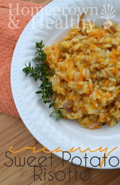 Creamy sweet potato risotto