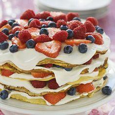 Pannkakstårta Pancakes, Pancake Cake, Food Art For Kids, Pudding Desserts, Fika, Baked Goods, Nutella, Nom Nom, Deserts