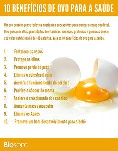 10 benefícios de ovo para a saúde - infográfico