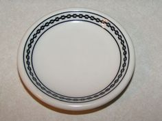 ATSF Railroad China Butter Pat in the Black Chain Pattern