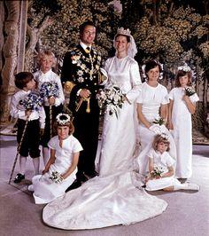 Retro weddings : King Carl XVI with Sylvia Sommerlath. Juny 19 1976.
