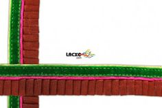 This awesome design is of Pleated Lace . Its product code is: 004819 , Its size is: 25 mm. Material used is 100% Polyester . This Pleated Lace comes with Sequence decoration. As seen design pattern is Lines .Price: Rs247.50 / 9 Meter Roll @ www.lacxo.com