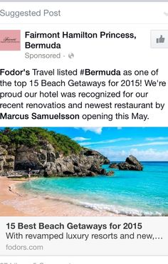 Why does this not surprise me.  Love Bermuda!!!  Can't wait to get back there soon!!!