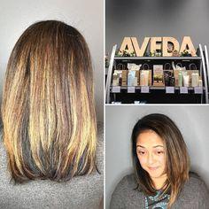 Loving my new color!  @breemurray13 @salondpaul @aveda  #balayage #avedacolor #kansascityhair #kansascityhairstylist #color #dimension #nofilter