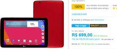 """Tablet LG G Pad V700 16GB Wi-Fi Tela 10"""" Android 4.4 Qualcomm Quad Core 1.2 GHz << R$ 62910 >>"""
