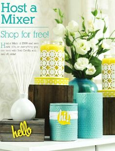 Host a Mixer- SHOP FOR FREE!  Monthly Specials, Half Off Items, Host Freebies- So, Why wouldn't you host a candle party?  In home or online,  I'll be happy to help!  www.yourcandleparty.com