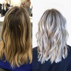 Done by @Alexaa3 At Habit Salon in Gilbert AZ Ash blonde, cool blonde More