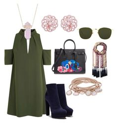 """""""Am I too FUNKY and PRIM for you"""" by cole222 on Polyvore featuring Topshop, Yves Saint Laurent, Casadei, Luna Skye, Linda Farrow, Vince Camuto and Marjana von Berlepsch"""