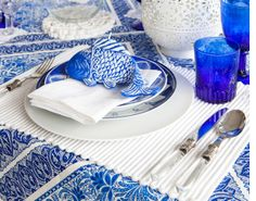 Summer Entertaining & mediterranean dinner party decor. white table cloth with different ...