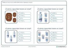 Ficha de litros totales para niños de primaria