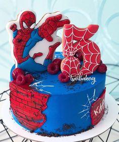 Spiderman Birthday Cake, Baby Birthday Cakes, Superhero Cake, Cakes For Baby Boy, Cakes For Boys, Fruit Cake Watermelon, Cake Designs For Kids, Pirate Ship Cakes, Surprise Cake