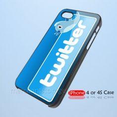 Twitter Logo Custom iPhone 4 4S Hard Case Cover