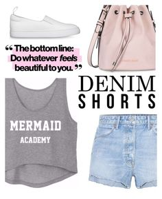 """""""denim shorts"""" by maripir on Polyvore featuring GRLFRND and Armani Jeans"""