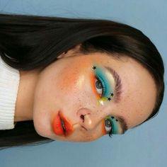 Unique Makeup, Creative Makeup Looks, Cute Makeup, Pretty Makeup, Colorful Makeup, Dramatic Makeup, Makeup Eye Looks, Eye Makeup Art, Makeup Tips