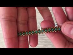 Beaded Wedding Jewelry, Bead Loom Bracelets, Beads And Wire, Beading Tutorials, Seed Beads, Friendship Bracelets, Hair Accessories, Chain, Crystals