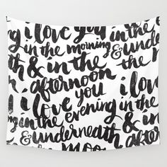 I love you in the morning Wall Tapestry
