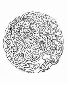 Celtic Coloring Pages Printable AnimalSnakeMandala