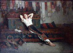 Nicolae Grigorescu - Fată cu zestrea ei - 1890 - Muzeul Naţional de Artă Romania        (Girl with her dowry, The National Museum of Art Romania)