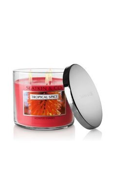 Tropical Spice 3 Wick Scented Candle - Bath and Body Works Slatkin