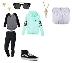 """Hayley"" by alexaw-2 on Polyvore featuring Victoria's Secret PINK, NIKE, Smoke & Mirrors, ki-ele, The Giving Keys, Wilfred and Vans"