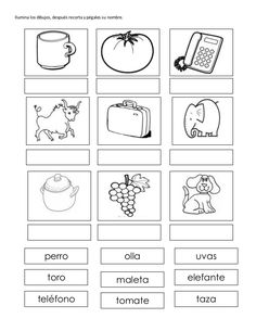 Excelente cuadernillo de trabajo silabicos alfabeticos- Spanish Classroom Activities, Teaching Activities, Teaching Spanish, Educational Activities, Kindergarten Lessons, School Lessons, Preschool Worksheets, Spanish Worksheets, Word Study