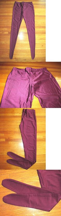 19b5dc5c8db61 Leggings and Tights 152364: Woman S Plus Size Shiny Deep Purple Footed  Spandex Tights Size