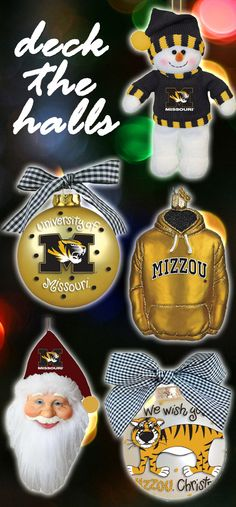 Decorate with Missouri (Mizzou) Tigers Holiday Ornaments!! http://www.rallyhouse.com/ncaa-missouri-tigers-christmas?utm_source=pinterest&utm_medium=social&utm_campaign=Pinterest-MizzouTigers