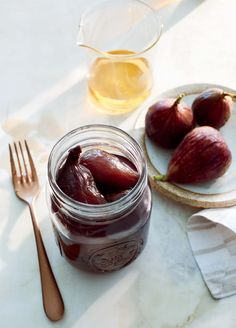 Great for preserving figs, which have a short growing season, this recipe will work with any fresh figs you have, such as Brown Turkey, Calimyrna, or Black Mission. Enjoy them as a simple dessert on their own, dressed up and served with ice cream or yogurt, or as a sweet salad topper. They could also be thinly sliced and served on toast as boozy spin on fig jam. Use the leftover syrup to sweeten cocktails or drizzle over fruit salad. Store canned figs in a cool, dry place for up to 1 year.