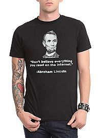HOTTOPIC.COM - Lincoln On The Internet T-Shirt