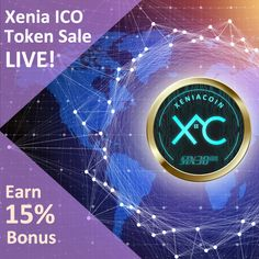 Sign Up now and buy Xenia Token. You have 27 days to claim your 15% bonus tokens! #Crypto #Cryptomining #Cryptoworld #ICO #Investment #Funding Crypto Mining, Market Value, Equal Opportunity, Blockchain Technology, Cryptocurrency, Investing, How To Get, Digital, Fun