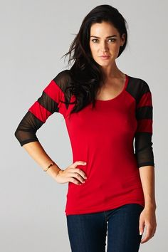 Black & Red Top-