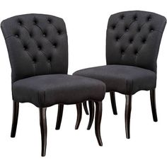 Tufted Dining Chairs, Tufted Chair, Fabric Dining Chairs, Dining Chair Set, Room Chairs, Dining Table, Furniture Legs, Dining Furniture, Dining Rooms