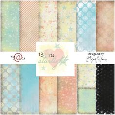 13 arts SPRING RELEASE - NEW PRODUCTS!!! Part 2 Olga Heldwein paper collection