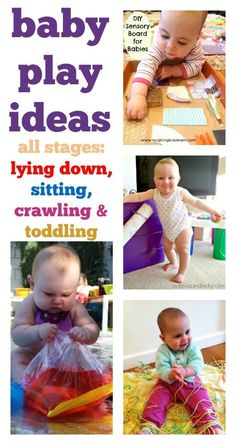 Super baby play ideas for all stages. Fun easy to set up age & stage appropriate - fab! : Super baby play ideas for all stages. Fun easy to set up age & stage appropriate - fab! Toddler Play, Baby Play, Baby Kids, Infant Play, Bebe 1 An, My Bebe, Baby Sensory Board, Baby Learning, Baby Development